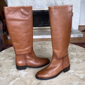 Massimo Dutti Knee High Leather Boots